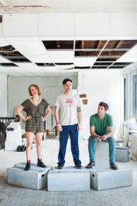 Le Mondo co-founders (from left) Carly Bales, Ric Royer and Evan Moritz stand up for the arts in Baltimore.