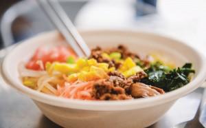 Brown Rice's bibimbap, or rice bowl, beef bulgogi.