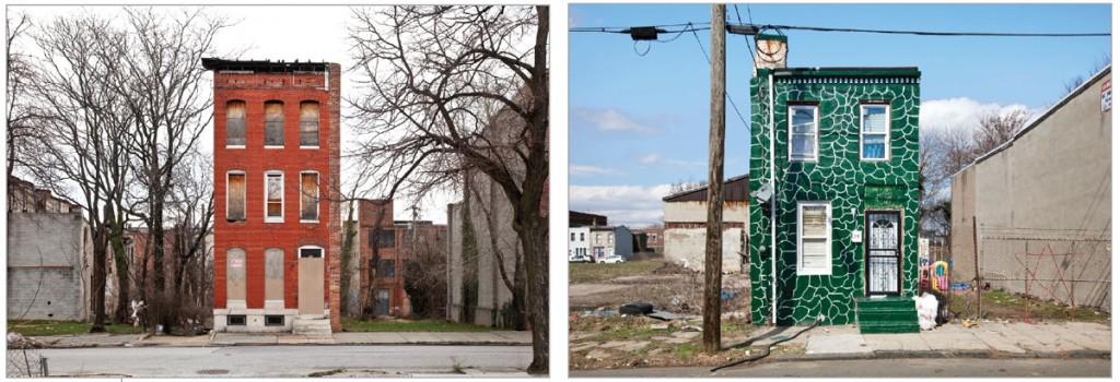 """629 N. Mount Street, Baltimore, MD"" and ""Camden, NJ"" by Ben Marcin."