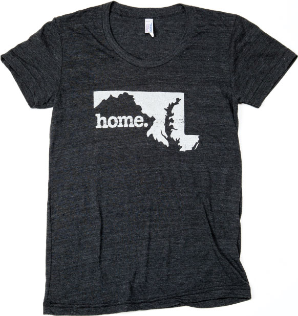 "STATE PRIDE For local friends and faraway fans of Maryland—named to honor Henrietta Maria, the wife of England's King Charles I—the ""Home"" T-shirt celebrates place in a laidback way. $24, at Sweet Elizabeth Jane in Ellicott City."