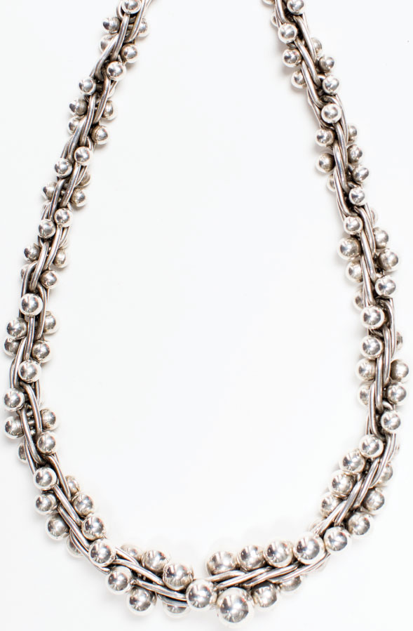"SILVER LINING The work of William Spratling, ""the father of contemporary Mexican silver,"" nods to the cultures of early Mexico. This special graduated Spratling-inspired necklace is versatile enough for any female recipient on your five-star list, a gift to last a lifetime.$835, at Blanca Flor Silver Jewelry in Annapolis."