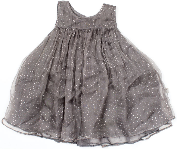 DRESS RECITAL For the girliest toddler you know, this frothy gray gown twirls with panache. Oh-so-Night Before Christmas. $70, at Wheat in Annapolis.