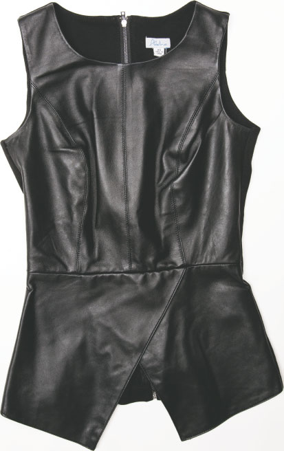 S.W.A.K. This is one envelope she'd be extra keen to receive: The Abbeline Leather Ponte Envelope Shell Top is a standout at any nighttime gathering. $158, at South Moon Under in Harbor East.