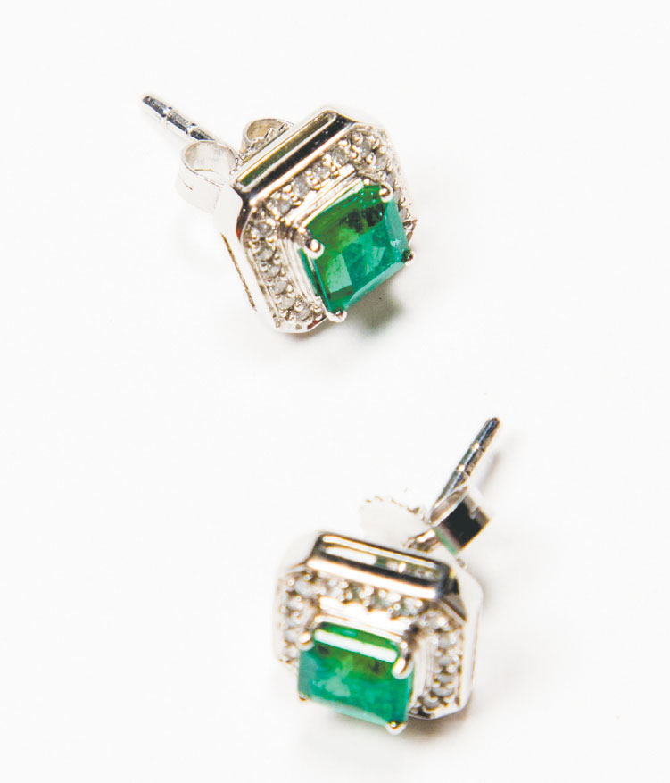 EAR ENVY Sure, emerald earrings are an ideal gift for any woman with a May birthday (like us), but don't underestimate the green stone's dramatic, people-pleasing allure and holiday appeal. $4,125, Bijoux at Green Spring Station
