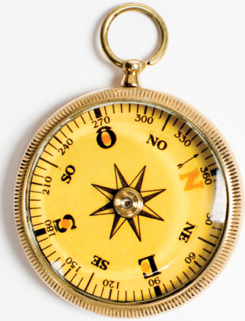 SAFE COURSE We know! Get your fancy friend who has everything a beautiful mariner's compass. They come in other styles as well. $28, at The Annapolis Bookstore.