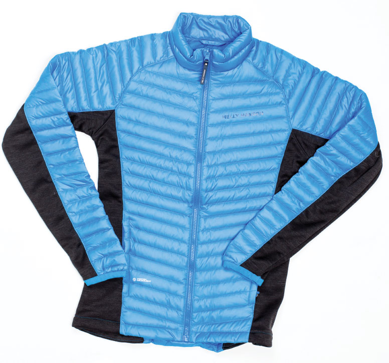 "DOWNY AND OUT Get your serious ski bunny this igloo of a Scandinavian-designed jacket—a hybrid construction pairs goose down ""insulators"" with stretchy fleece. Also available in black. $200, at Helly Hanson in Annapolis."