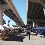 The Riverside Arts Market in action