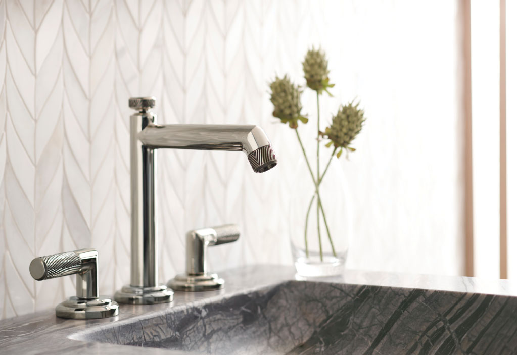 Make your bathroom distinctively yours with unique faucets like this one by Kallista.