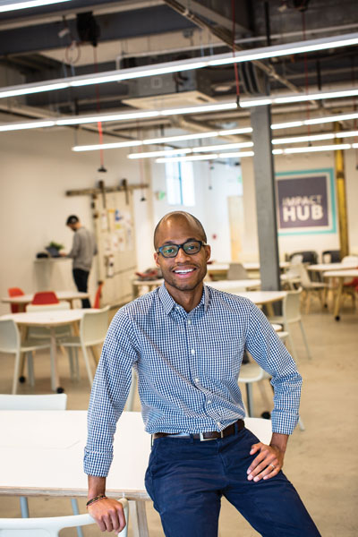 Darius Graham of JHU's Social Innovation Lab mentors and convenes social entrepreneurs at Impact Hub.