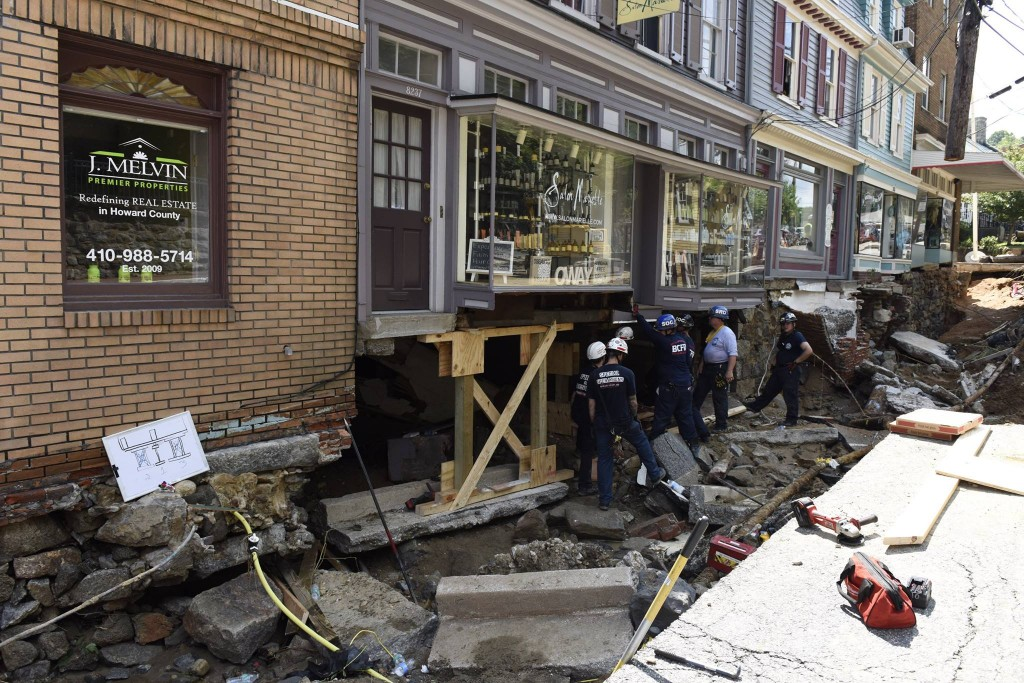Devastation in the wake of flooding in Ellicott City over the weekend.
