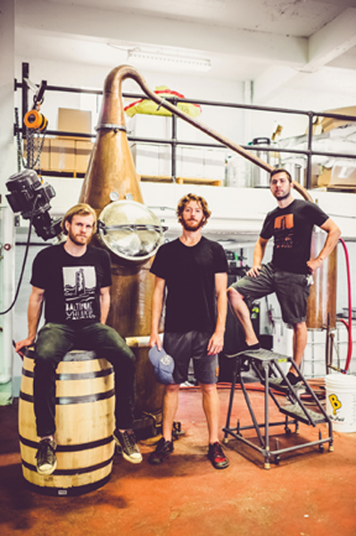 Max Lents, Newton and Breitburg-Smith produce their spirits from a 250-gallon still.