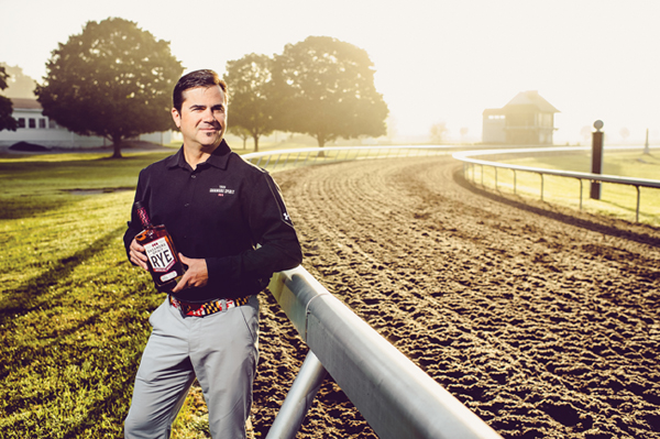 Sagamore Spirit president Brian Treacy at the track on Sagamore Farms. The soil is reinforced with shredded Lycra recycled from Under Armour.
