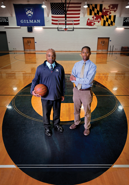 Gilman's Athletic Director Tim Holley and Middle School Counselor Armond Lawson team up.