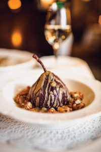 There's always room for a wine-poached pear.