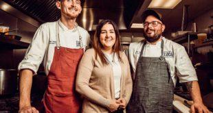 Chef Zack Trabbold, General Manager Samantha Wisniewski and Chef de Cuisine Chris Yates